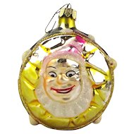Vintage Christopher Radko Clown Drum Glass Christmas Ornament Santa