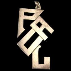 Vintage Sterling Silver PAUL Pendant Necklace
