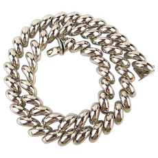Italian 925 Sterling Silver Thick Twist Link Necklace