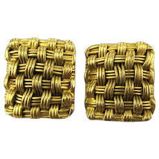 Steve Vaubel 18K Gold Vermeil on Sterling Silver Clip Earrings