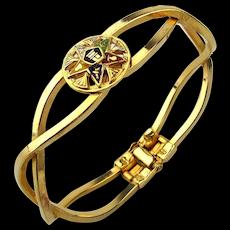 Masonic Order of the Eastern Star Enamel Hinge Bracelet