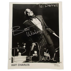 Original Autographed 8 x 10 Photo RAY CHARLES Performing