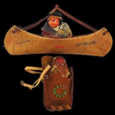 Two 1930s Native American Indian Souvenir Dolls