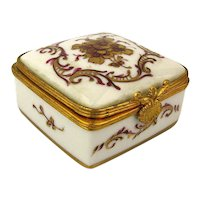 Vintage French Limoges Mini Porcelain Box - Handpainted for Bonwit Teller