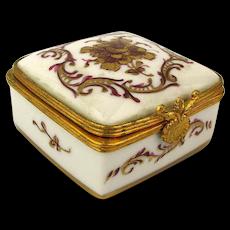 Vintage French Limoges Mini Porcelain Box - Handpainted for Bonwit Teller
