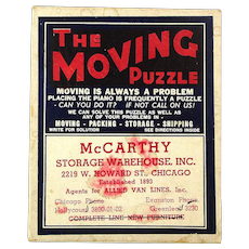 1941 The Moving Puzzle Advertising Premium in Orig. Box