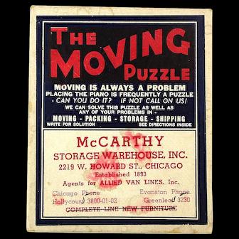 1941 The Moving Puzzle Advertising Premium in Orig. Box