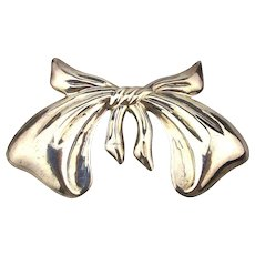 Big Taxco Sterling Silver Bow Pin Pendant - Wrap it Up