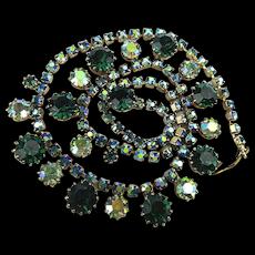 Vintage Weiss Rhinestone Necklace - AB Glitter Fest
