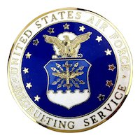 Vintage U.S. Air Force Recruiting Service Enamel Badge