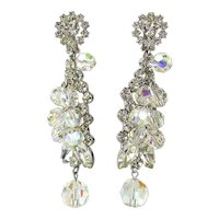 Ultra Gorgeous Crystal Rhinestone Bead Drop Dangle Earrings