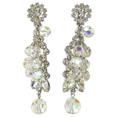 Ultra Gorgeous Crystal Rhinestone Bead Drop Dangle Earrings