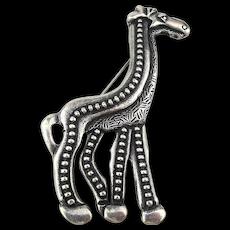Sleek Signed Stylized GIRAFFE Pin Brooch