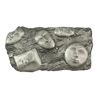 Vintage J.J. Jonette Pin - Faces in the Sand