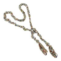 Colorful Long 45 Inch Beaded Rope Necklace Wrap It - Tie It - Love It