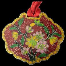 Vintage Chinese Cloisonne Enamel LOCK Pendant Necklace