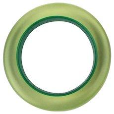 Vintage Illusional Lucite Bangle Bracelet Green to Applejuice