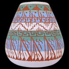 Native American Navajo Ella Cadman Signed Pottery Vase Arizona