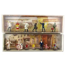 2 W. Germany MERTEN Miniature People Sets Railroad Ice Cream