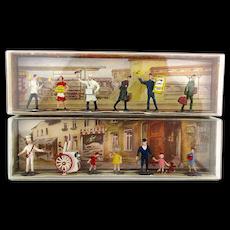 2 W. Germany MERTEN Miniature People Sets Railroad Ice Cream