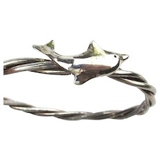 Great BAD Sterling Silver Jumping Dolphin Bracelet