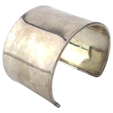 Big Wide Sterling Silver Cuff Bracelet