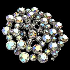 Vintage WEISS Glamor Alert - Crystal AB Rhinestone Set Necklace Bracelet