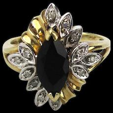 Estate 10K Gold Diamond Ring - A Flower For a Finger