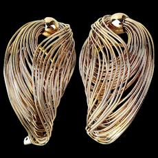 Wild Wonderful NAPIER Big Clip Wire Hook Earrings