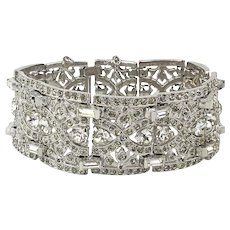 Art Deco Era LEDO Polcini Crystal Rhinestone Bracelet Ultra Sparkly