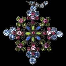 Vintage Sorrelli Austrian Crystal Rhinestone Necklace
