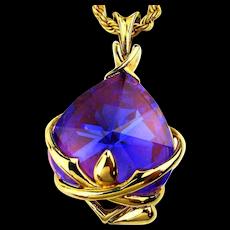 Gorgeous Big Purple Stone Pendant Necklace