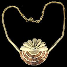 Vintage ORENA Paris Goldtone Necklace Designer for Designers