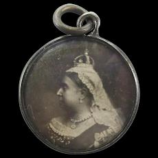 Victorian 1901 Charm Pendant - Queen Victoria Memorial Photo