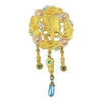 J.J. Victorian Style Pin Art Nouveau Gibson Girl Jonette Jewelry