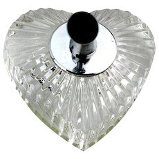 Vintage Waterford Crystal HEART Pen Holder Paperweight
