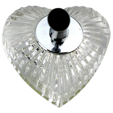 Vintage Waterford Crystal HEART Pen Holder Paperweight