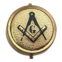 Antique Victorian Masonic Gilded Lapel Pin Pat. 1875