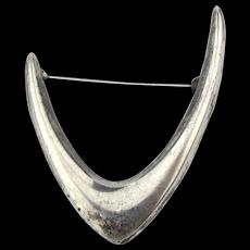 Modernist Arne Johansen BOOMERANG Sterling Silver Pin Denmark