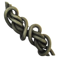 Art Deco 1930s Celluloid Pin Brooch All in a Twist