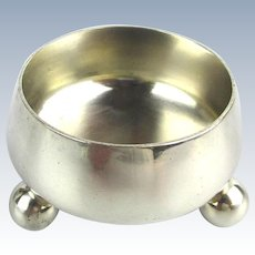 Early Tiffany & Co. Sterling Silver Salt Cellar Condiment Dish
