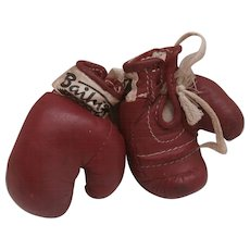 Wonderful  Vintage Miniature Boxing Gloves for your Teddy or Doll , Bailey's, Glastonbury