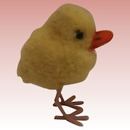 Tiny Steiff Wool Duckling,  1965 to 1976, No Id's