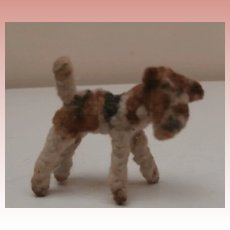 Rare  Vintage Tiny Airedale  Dog Pipe Cleaner Dog, Dolls House