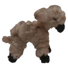 Sweet  Little Vintage Pipe Cleaner Lamb