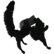 Unusual Vintage Pipe Cleaner Lucky Black Cat