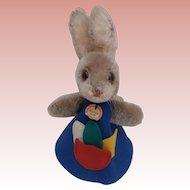 Rare Steiff Rabbit Night Cap, Steiff Chest Label, 1968 to 1973