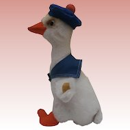 Steiff Cozy Duck Boy  1970 to 1973, Steiff Button