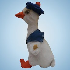 Steiff Cozy Duck Boy  1970 to 1973, Steiff Button