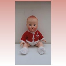 Babykins, Baby Plastic Doll by BND London, 1950's,